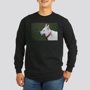 White German Shepherd Long Sleeve Dark T-Shirt