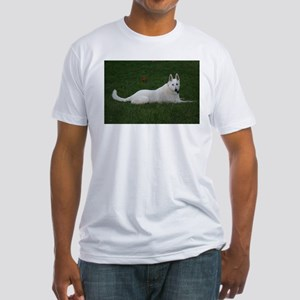 White Shepherd Fitted T-Shirt