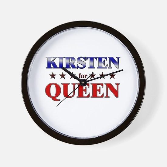 KIRSTEN for queen Wall Clock