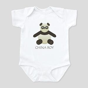 China Boy Panda Infant Bodysuit