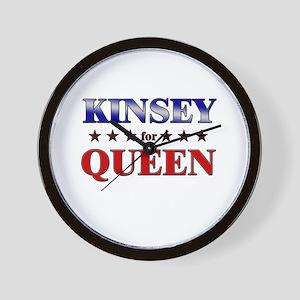 KINSEY for queen Wall Clock