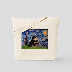 Starry Night / Pomeranian(b&t) Tote Bag