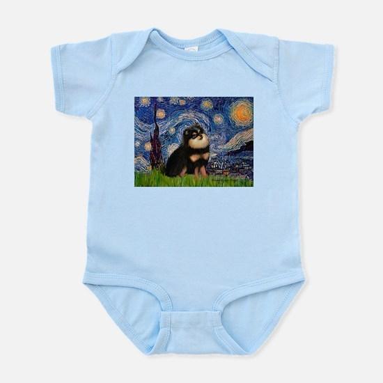 Starry Night / Pomeranian(b&t) Infant Bodysuit