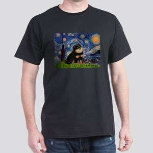 Starry Night / Pomeranian(b&t) Dark T-Shirt