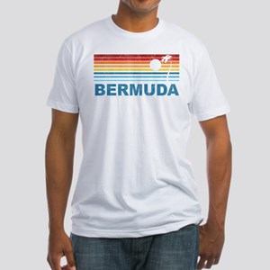 Palm Tree Bermuda Fitted T-Shirt