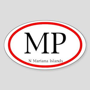 Mariana Islands Oval Decal
