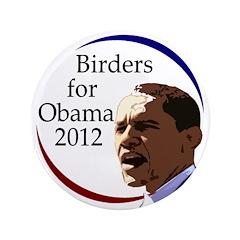 "Birders for Obama 3.5"" Button"