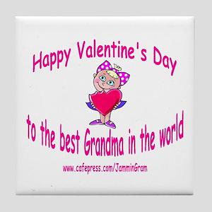 BEST GRANDMA - GIRL Tile Coaster