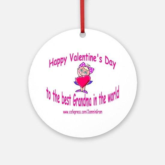 BEST GRANDMA - GIRL Ornament (Round)