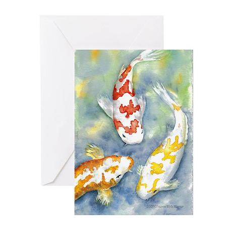 Koi Blank Greeting Cards (Pk of 10)