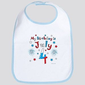 July 4th Birthday Red, White, Blue Bib