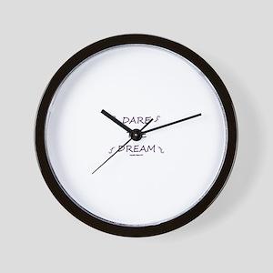 DARE THE DREAM Purple Wall Clock