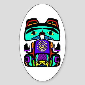 Sun Beaver Oval Sticker