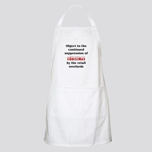 Object to the suppression of Christmas BBQ Apron