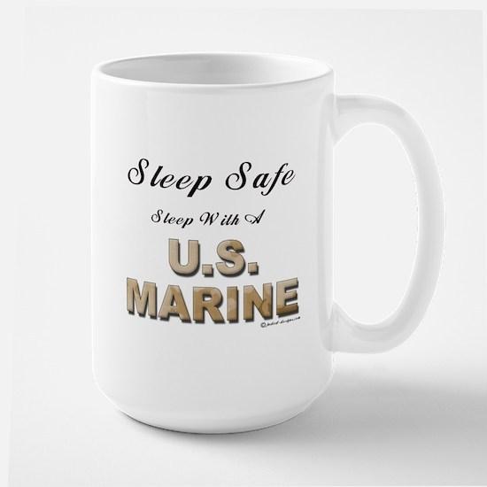 Sleep Safe U.S. Marine Large Mug