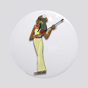 Egyptian Woman Musician Ornament (Round)