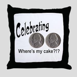 55 Cake?!?!? Throw Pillow