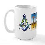Masonic Brother to brother Large Mug