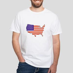 Flag Map White T-Shirt