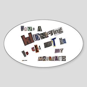 Runaway Bride/Divorce Oval Sticker