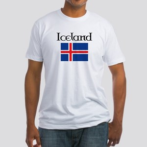 Iceland Flag Fitted T-Shirt