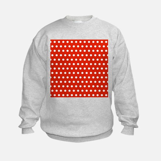 Red and White Polka Dots Sweatshirt