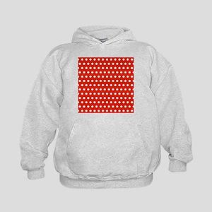 Red and White Polka Dots Sweatshirt