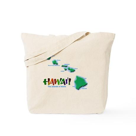 Hawaii Islands Tote Bag