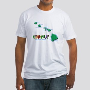 Hawaii Islands Fitted T-Shirt