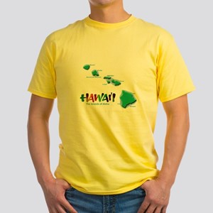 Hawaii Islands Yellow T-Shirt