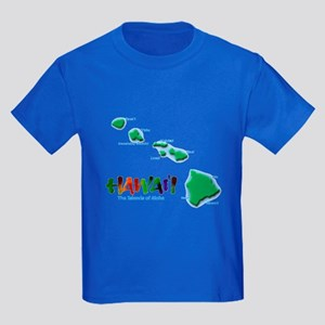 Hawaii Islands Kids Dark T-Shirt