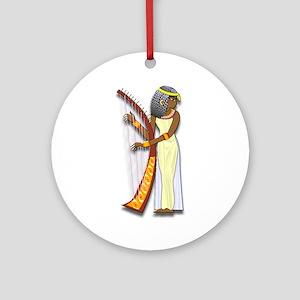 Harpist Ornament (Round)