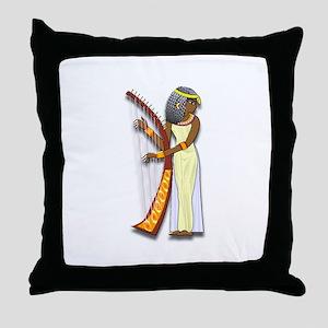 Harpist Throw Pillow