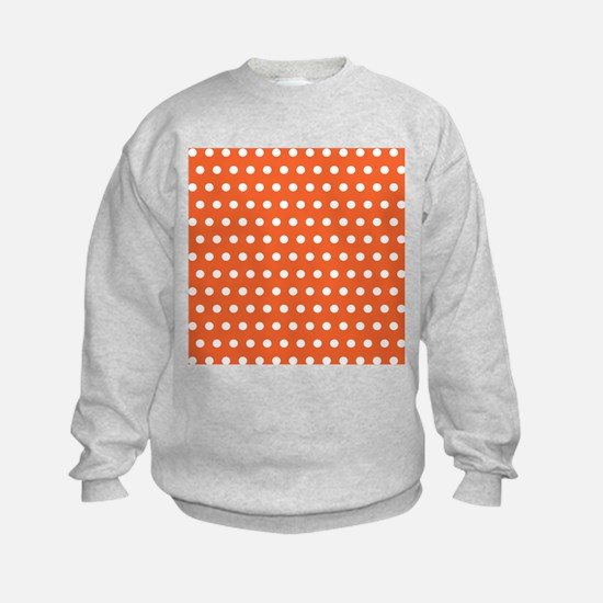 Orange And White Polka Dots Sweatshirt