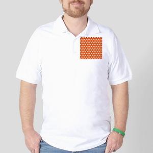 Orange And White Polka Dots Golf Shirt