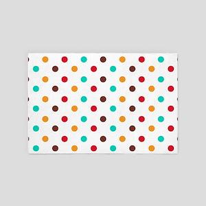 Multi Color Polka Dots 4' x 6' Rug
