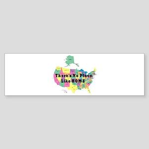 USA NO PLACE LIKE HOME Bumper Sticker