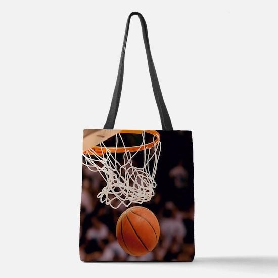 Basketball Scoring Polyester Tote Bag