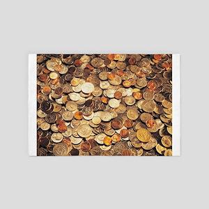 U.S. Coins 4' x 6' Rug