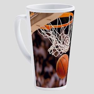 Basketball Scoring 17 oz Latte Mug