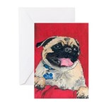 'Happy Pug' Greeting Cards (Pk of 20)