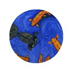 "Happy Swimming Goldfish 3.5"" Button"