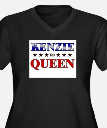 KENZIE for queen Women's Plus Size V-Neck Dark T-S