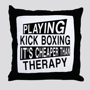 Awesome Kick Boxing Player Designs Throw Pillow