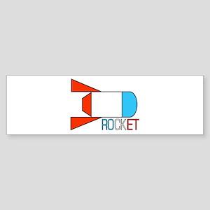 RETRO ROCKET Bumper Sticker