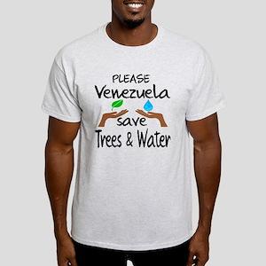 Please Venezuela Save Trees & Water Light T-Shirt