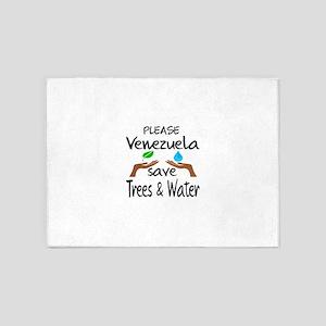 Please Venezuela Save Trees & Water 5'x7'Area Rug
