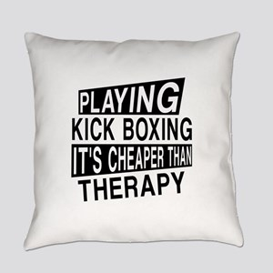 Awesome Kick Boxing Player Designs Everyday Pillow