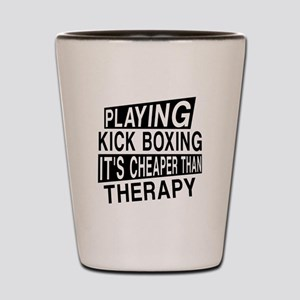 Awesome Kick Boxing Player Designs Shot Glass
