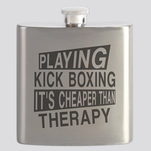 Awesome Kick Boxing Player Designs Flask